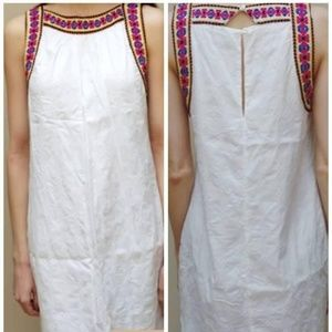 NWOT Boho Embroidered Cotton Swing Dress XS